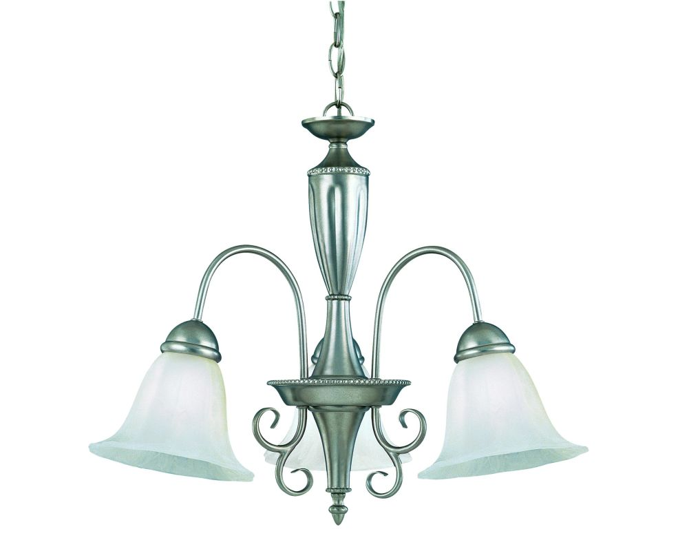 Savoy House KP-1-5002-3 Wrought Iron 3 Light Down Lighting Chandelier