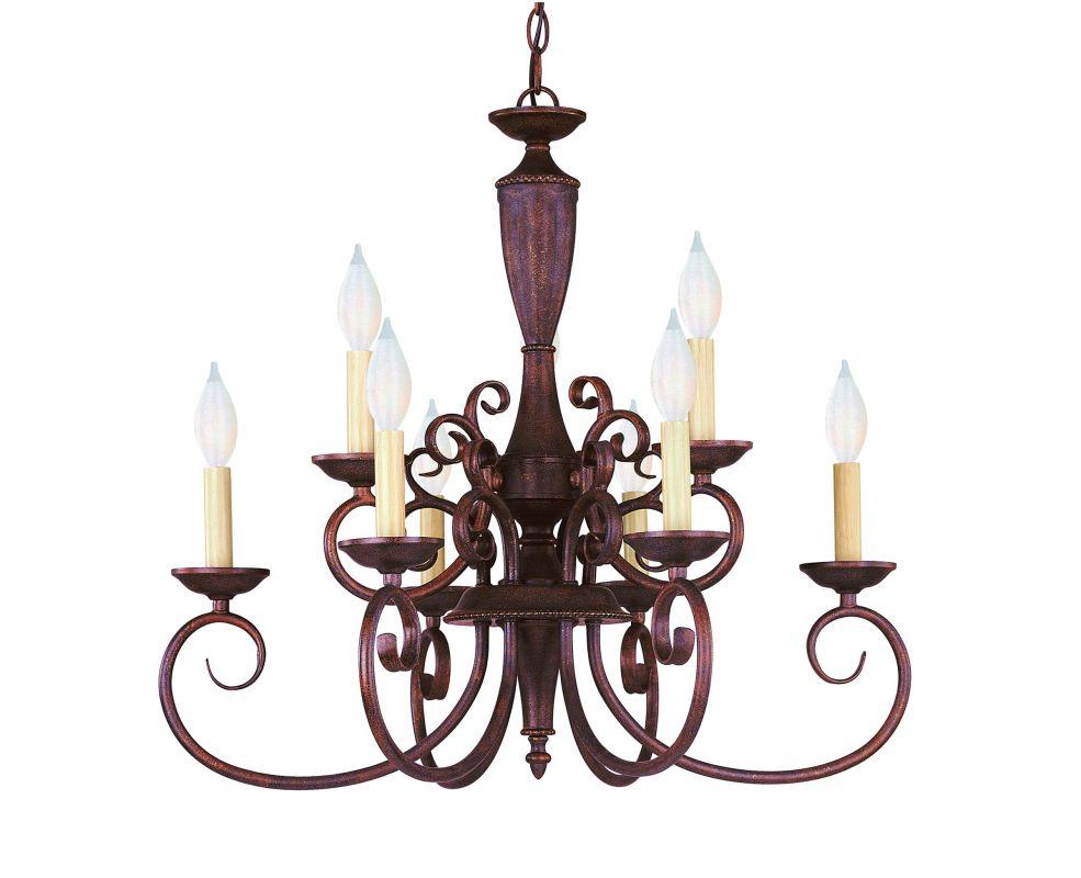 Savoy House KP-1-5007-9 Wrought Iron 9 Light Up Lighting Chandelier