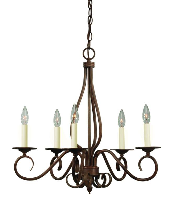 Savoy House KP-95-5 Oxford 5 Light 24&quote Wide 1 Tier Chandelier Sunset