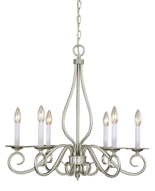Savoy House KP-SS-116-6 6 Light Up Lighting Chandelier from the Polar Sale $238.00 ITEM: bci335405 ID#:KP-SS-116-6-69 UPC: 822920150210 :