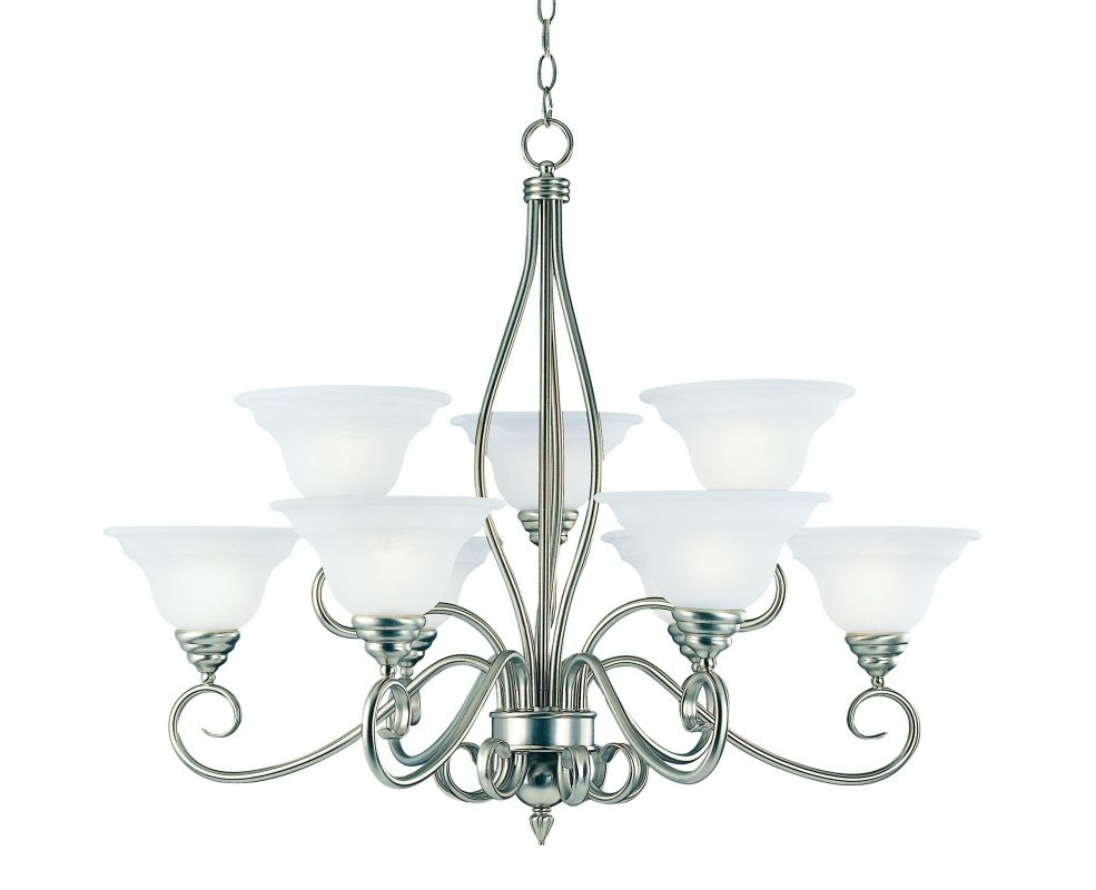 Savoy House KP-SS-99-9 9 Light Up Lighting Chandelier from the Polar Sale $490.00 ITEM: bci335428 ID#:KP-SS-99-9-69 UPC: 822920067495 :