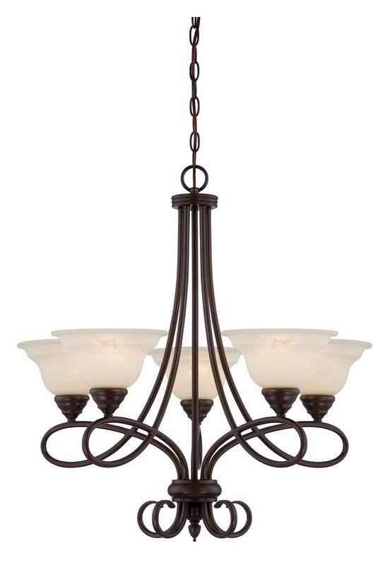 "Savoy House 1-120-5 Oxford 5 Light 27.5"" Wide 1 Tier Chandelier"