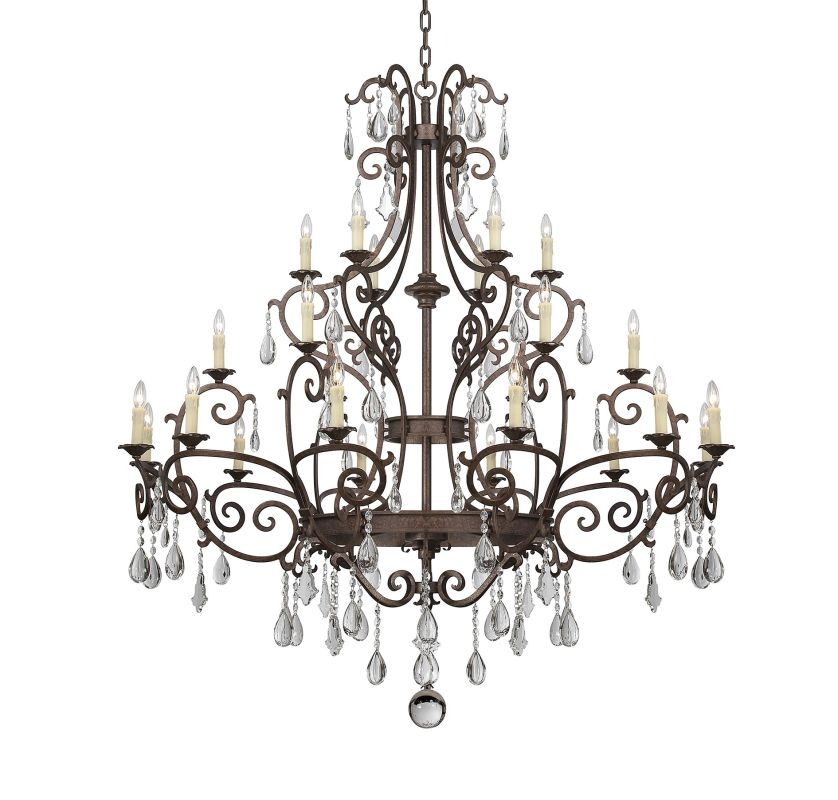 """Savoy House 1-1407-24 Florence 24 Light 65"""" Wide 3 Tier Chandelier"""