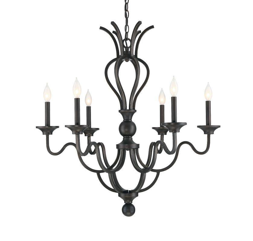 Savoy House 1-2040-6 Montpelier 6 Light Chandelier Statuary Bronze