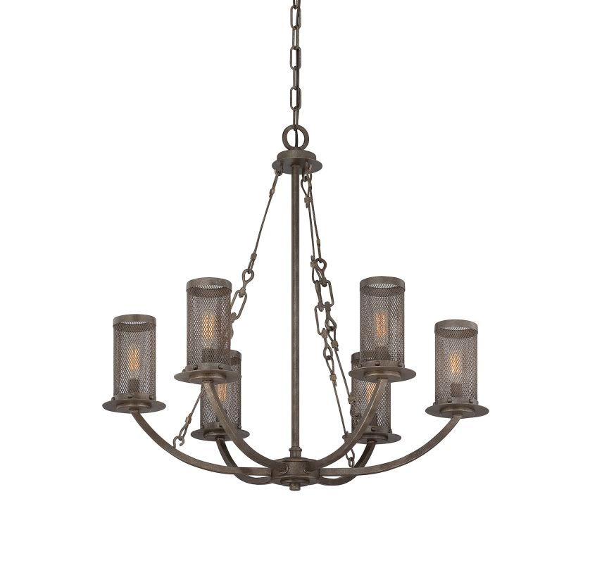 "Savoy House 1-2500-6 Nouvel 6 Light 29"" Wide 1 Tier Chandelier Galaxy"