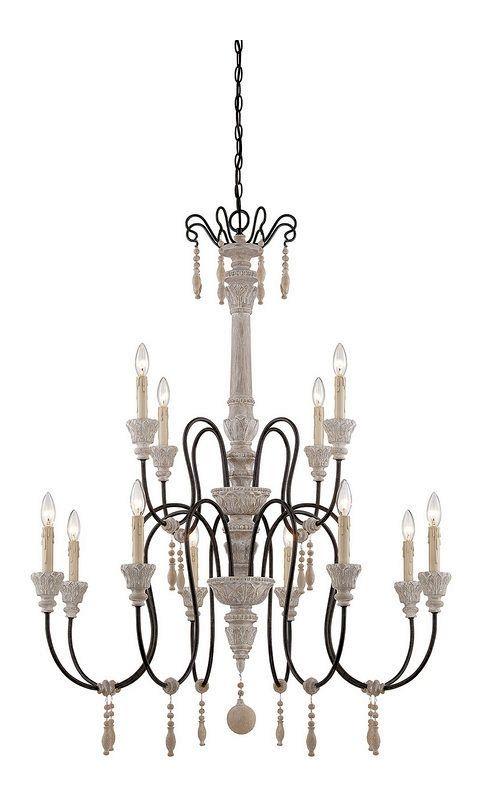 """Savoy House 1-292-12 Ashland 12 Light 38"""" Wide 2 Tier Chandelier White"""