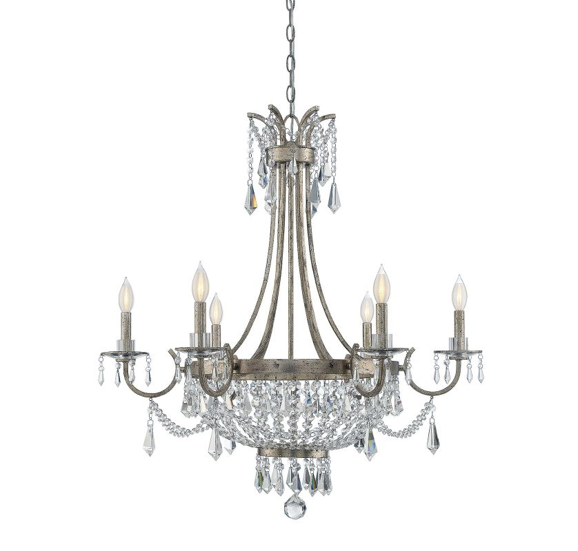 Savoy House 1-3060-6 Claiborne 6 Light Chandelier Avalite Indoor