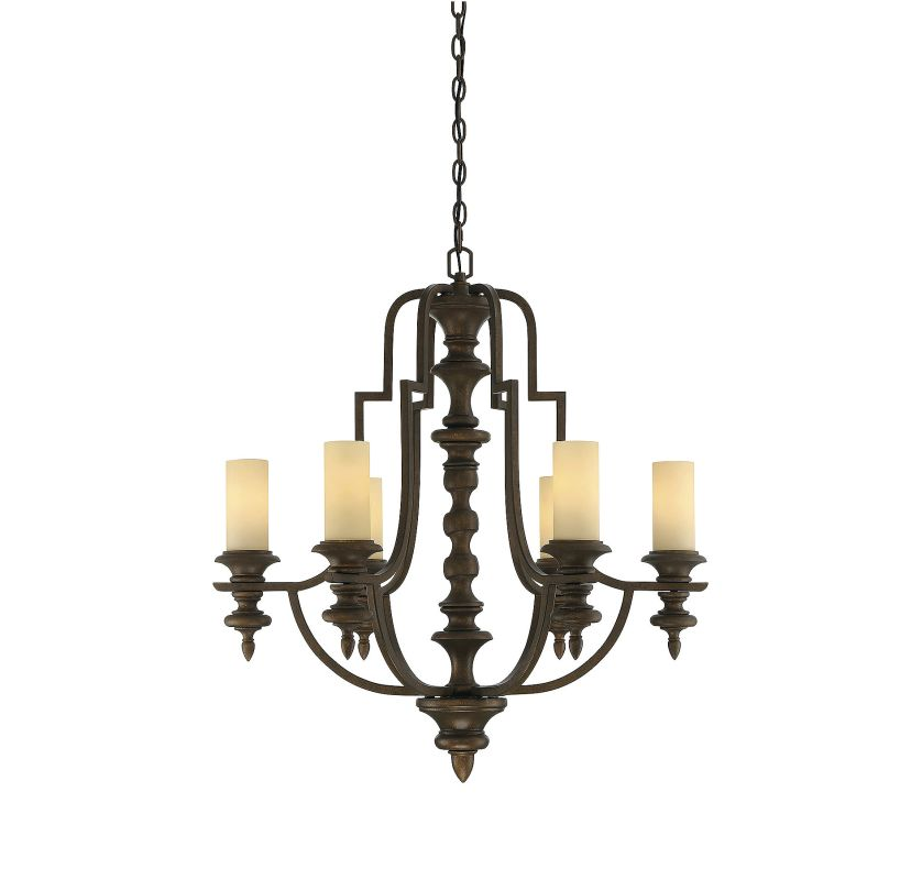 Savoy House 1-3070-6 Castillo 6 Light Chandelier Midland Bronze Indoor