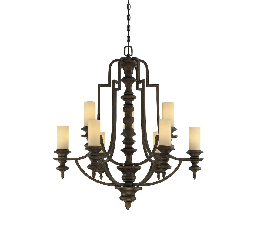 Savoy House 1-3071-9 Castillo 9 Light Chandelier Midland Bronze Indoor