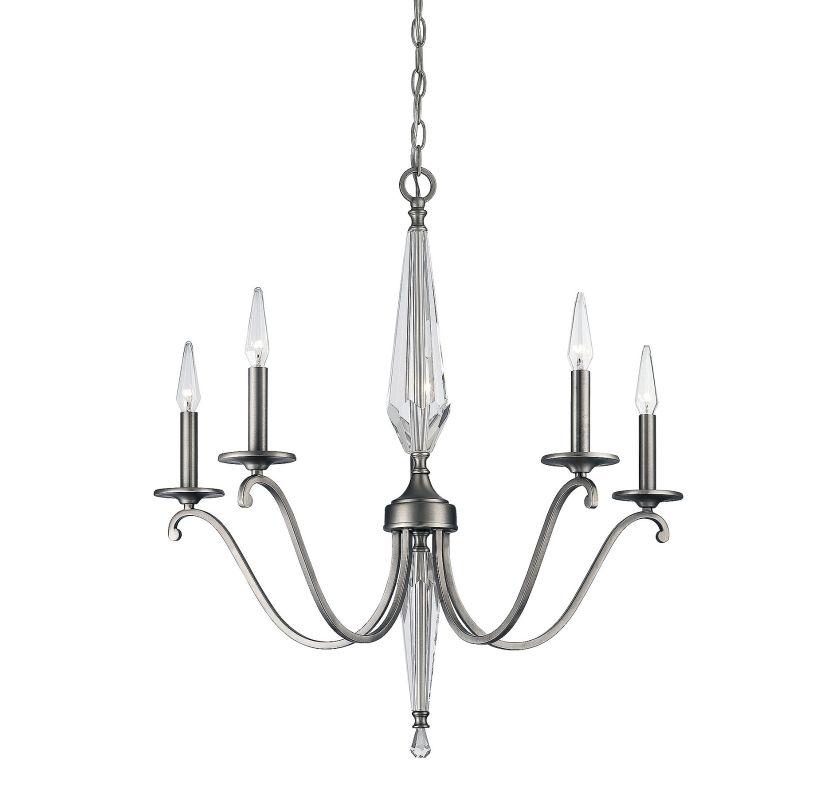 Savoy House 1-380-5 Kendall 5 Light Chandelier Vintage Nickel Indoor