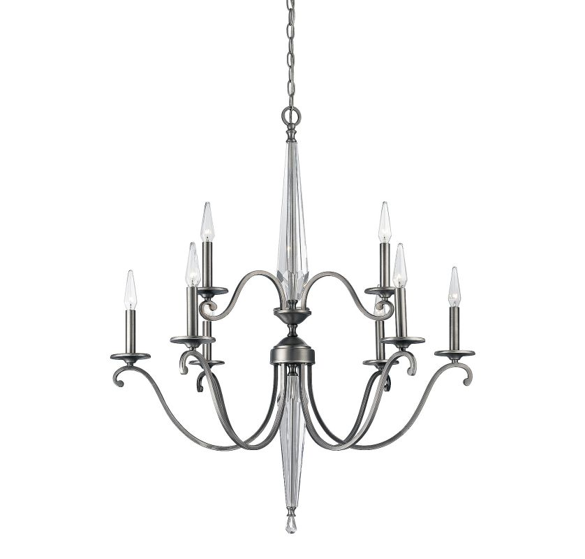 Savoy House 1-381-9 Kendall 9 Light Chandelier Vintage Nickel Indoor
