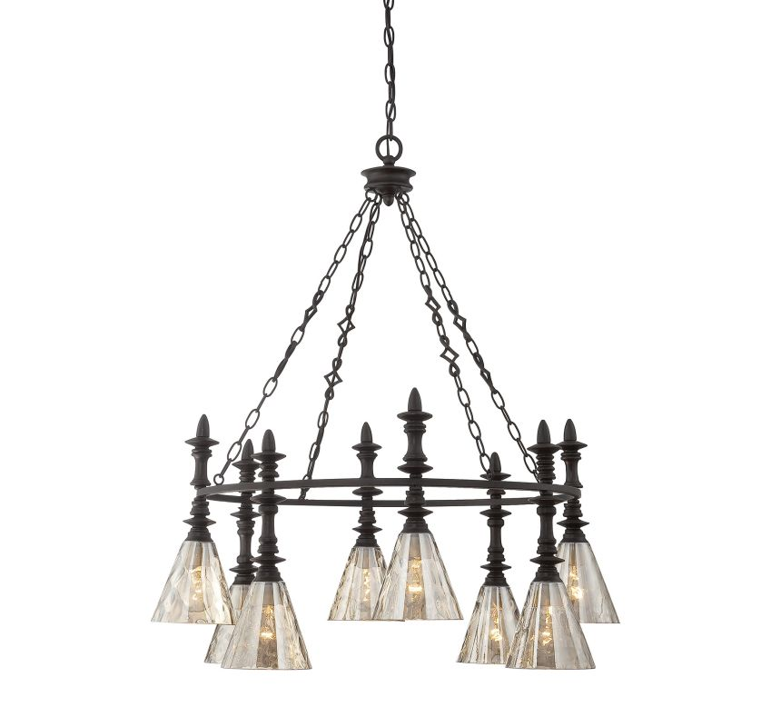 "Savoy House 1-4900-8 Darian 8 Light 32"" Wide 2 Tier Chandelier Oiled"