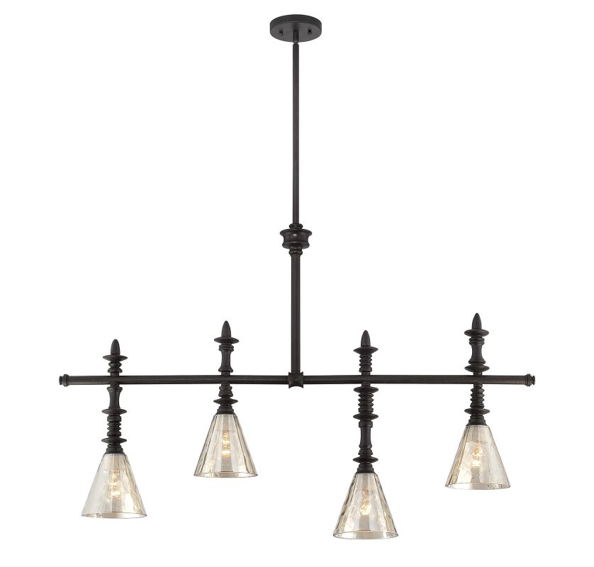 "Savoy House 1-4902-4 Darian 4 Light 44"" Wide Chandelier Oiled Bronze"