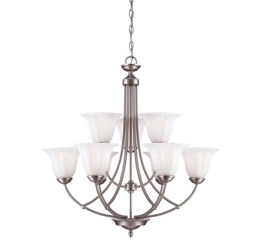 Savoy House 1-5023-9 Liberty 9 Light Chandelier Satin Nickel Indoor
