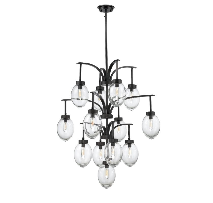 Savoy House 1-542-13 Ravenia 13 Light Chandelier English Bronze Indoor