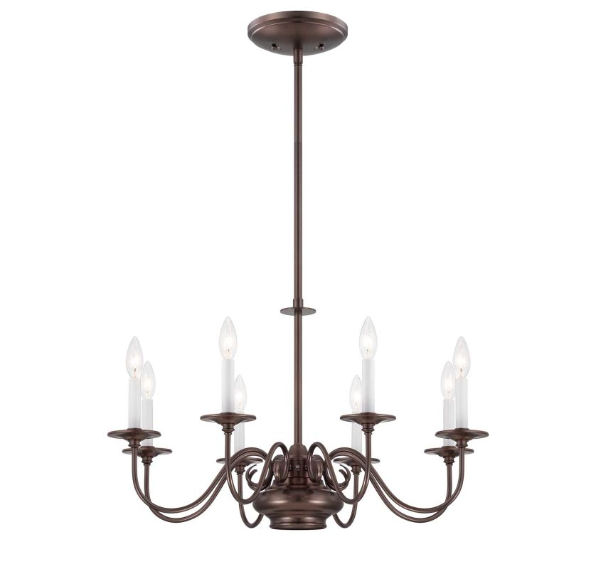 Savoy House 1-5451-8 Bancroft Eight Light One Tier Chandelier Oiled