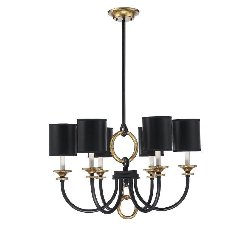 Savoy House 1-560-6 Parkdale 6 Light Chandelier Matte Black Indoor