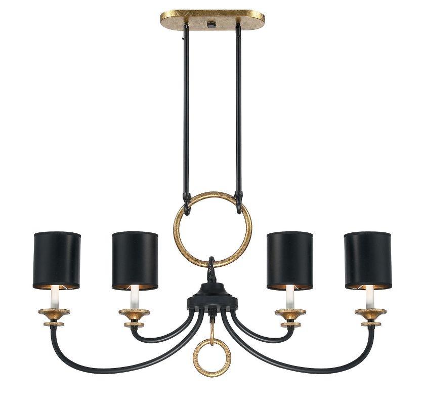 Savoy House 1-561-4 Parkdale 4 Light Chandelier Matte Black Indoor