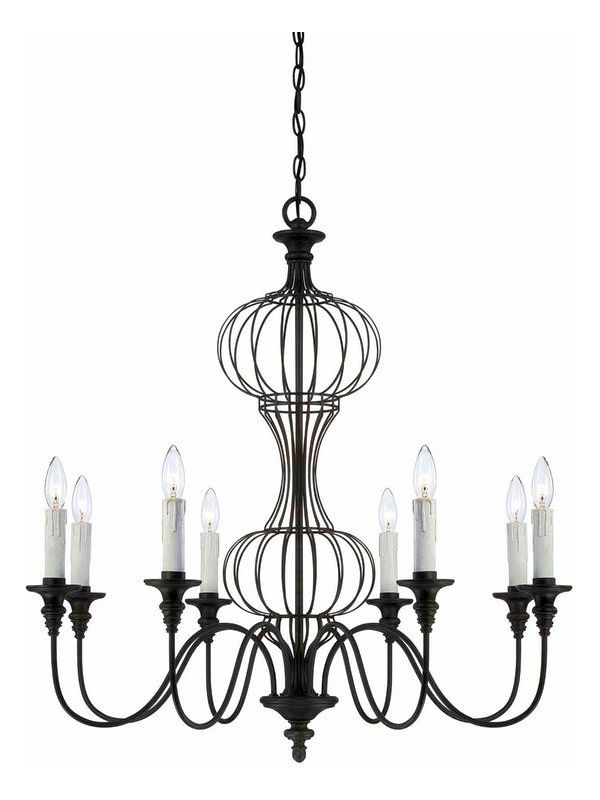 Savoy House 1-6011-8 Abagail 8 Light 1 Tier Chandelier Forged Black