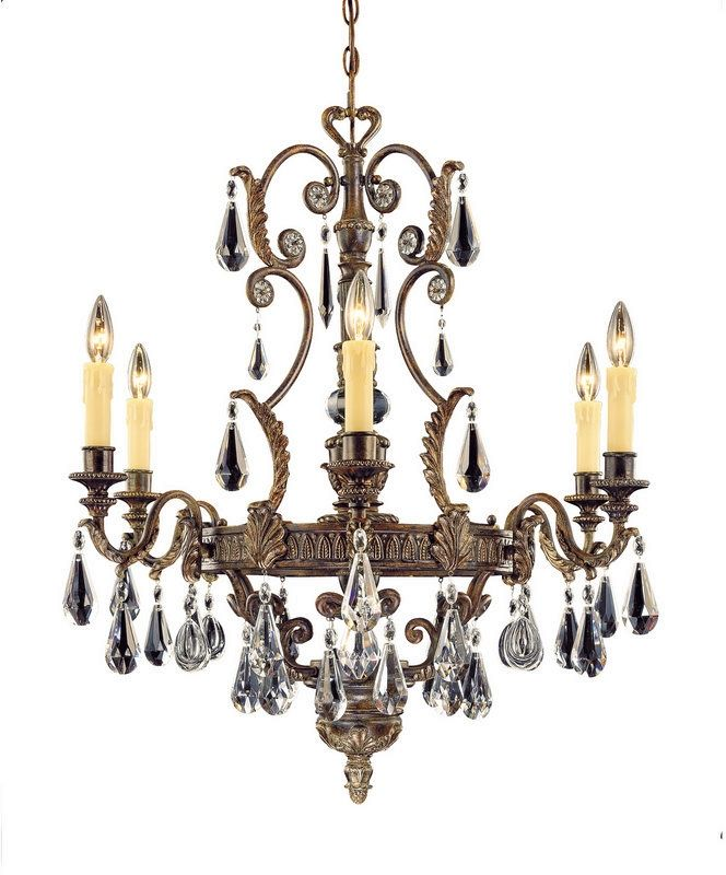 """Savoy House 1-6202-6 Marseille 6 Light 29"""" Wide 1 Tier Chandelier with"""