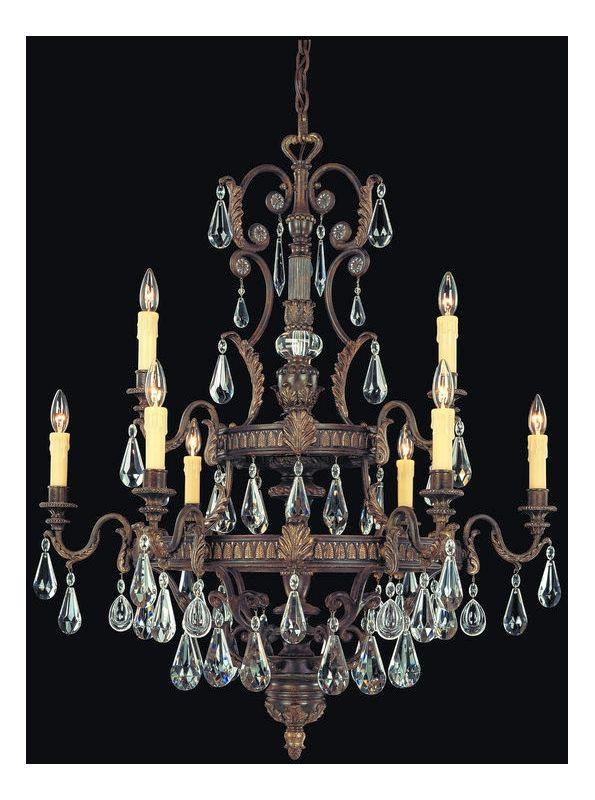 """Savoy House 1-6203-9 Marseille 9 Light 35.5"""" Wide 2 Tier Chandelier"""