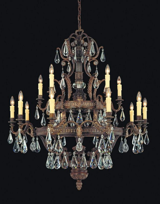 "Savoy House 1-6205-15 Marseille 15 Light 43"" Wide 2 Tier Chandelier"