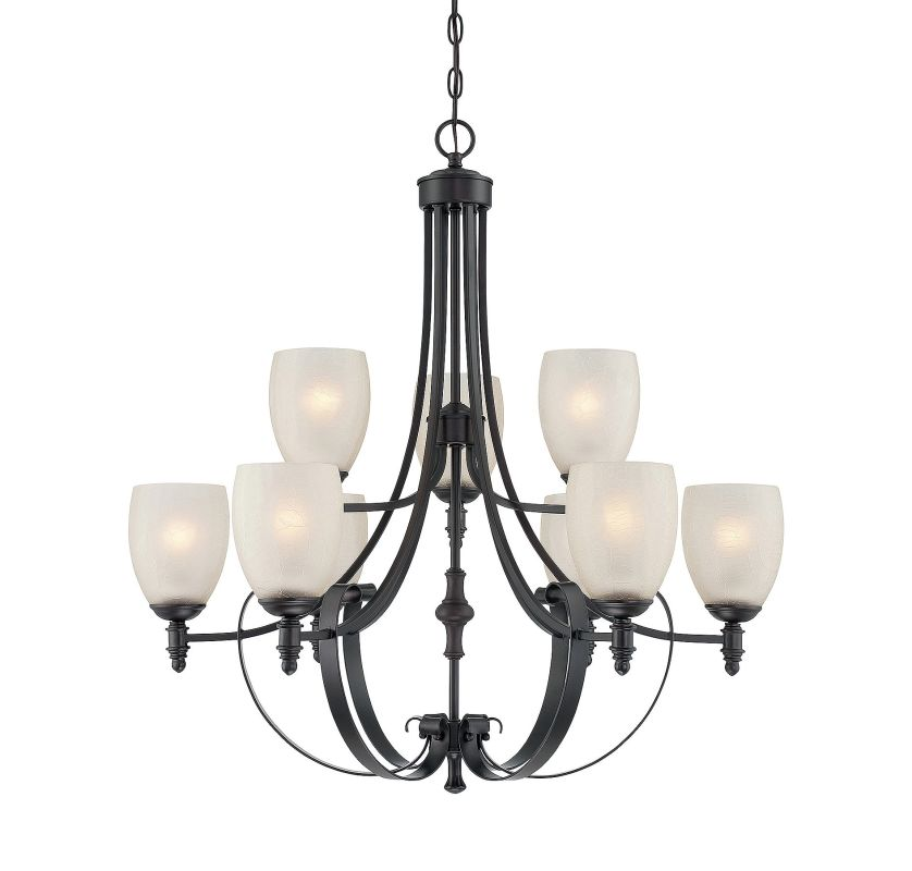 Savoy House 1-622-9 Duvall 9 Light Chandelier English Bronze Indoor