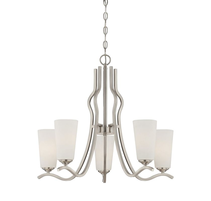 Savoy House 1-6220-5 Charlton 5 Light Chandelier Satin Nickel Indoor Sale $310.00 ITEM: bci2238187 ID#:1-6220-5-SN UPC: 822920243639 :