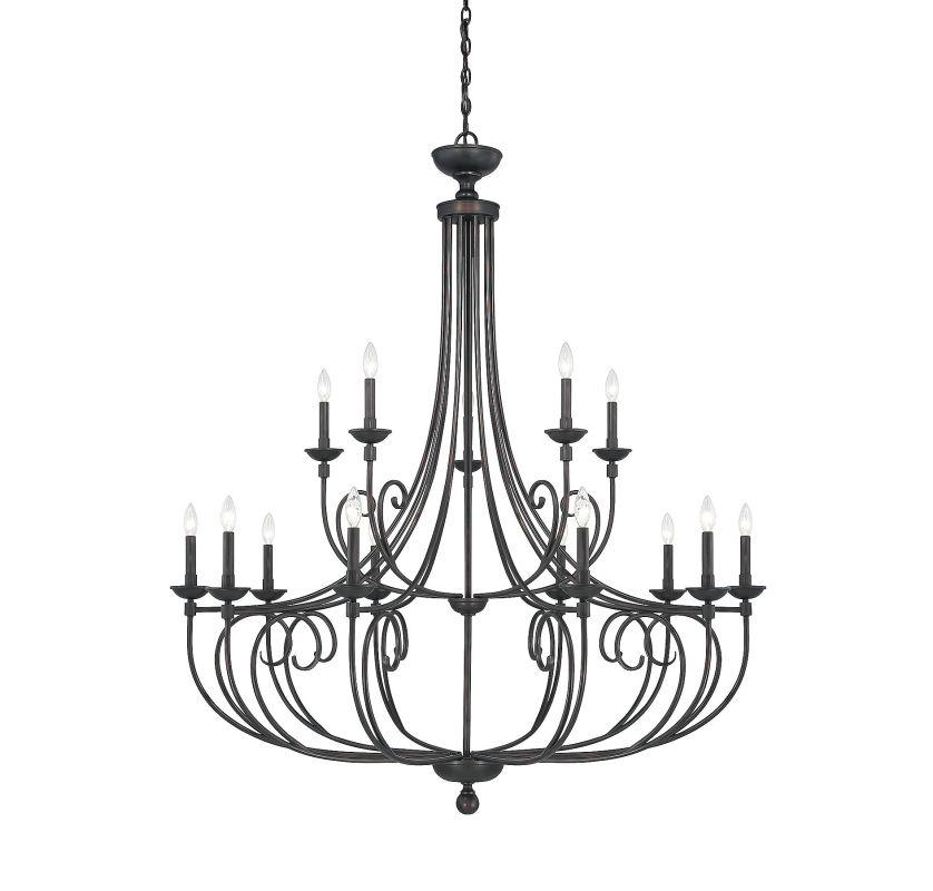 Savoy House 1-650-15 Langley 15 Light Chandelier English Bronze Indoor