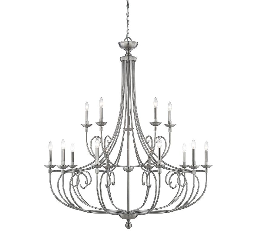Savoy House 1-650-15 Langley 15 Light Chandelier Satin Nickel Indoor