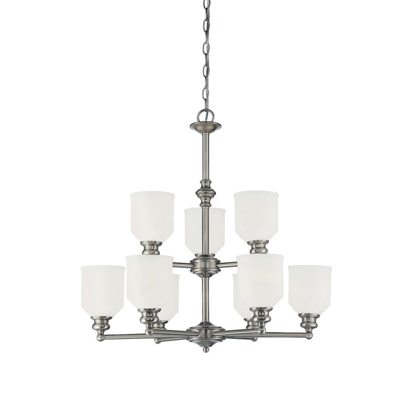 Savoy House 1-6838-9 Melrose 9 Light Chandelier Satin Nickel Indoor