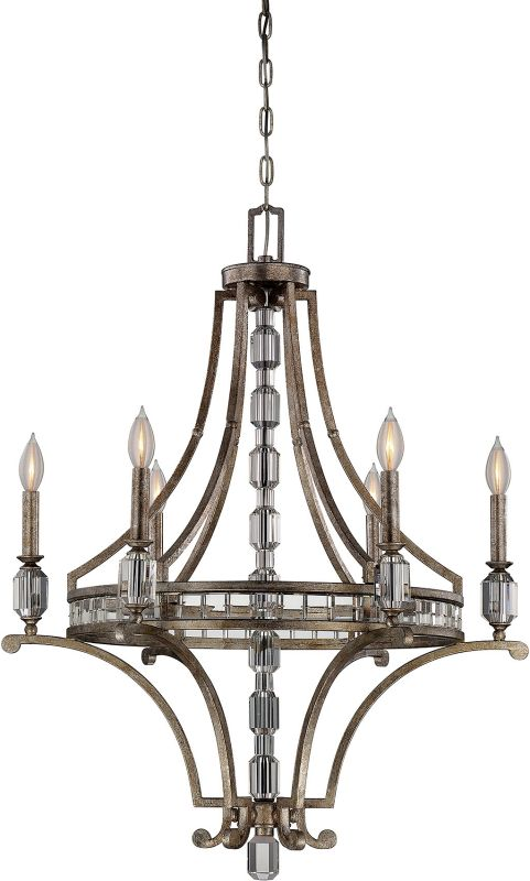 "Savoy House 1-7151-6 Filament 6 Light 28"" Wide 1 Tier Chandelier with"