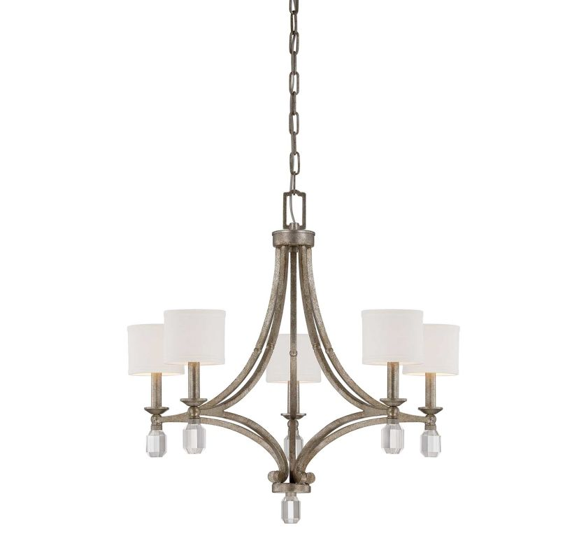 """Savoy House 1-7153-5 Filament 5 Light 25"""" Wide 1 Tier Chandelier with"""
