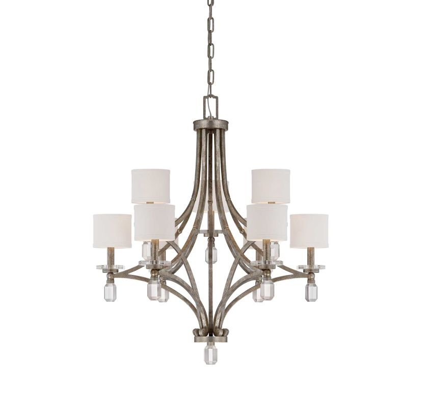 """Savoy House 1-7155-9 Filament 9 Light 33"""" Wide 2 Tier Chandelier with"""