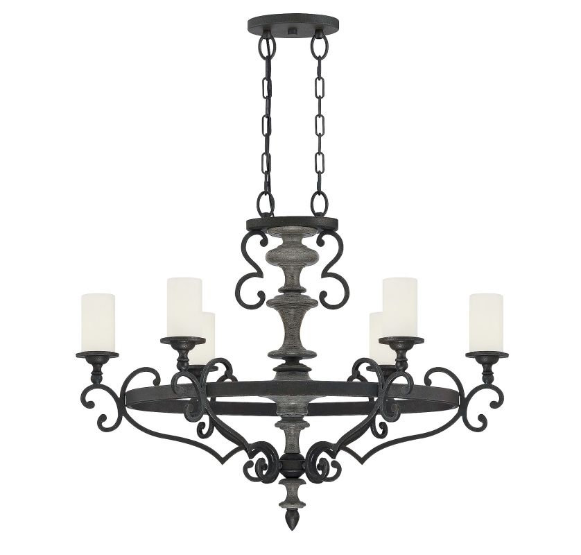 Savoy House 1-741-6 Strathmore 6 Light Chandelier Century Bronze