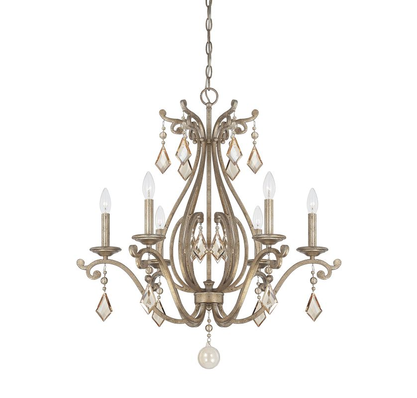 "Savoy House 1-8100-6 Rothchild 6 Light 28"" Wide 1 Tier Chandelier with"