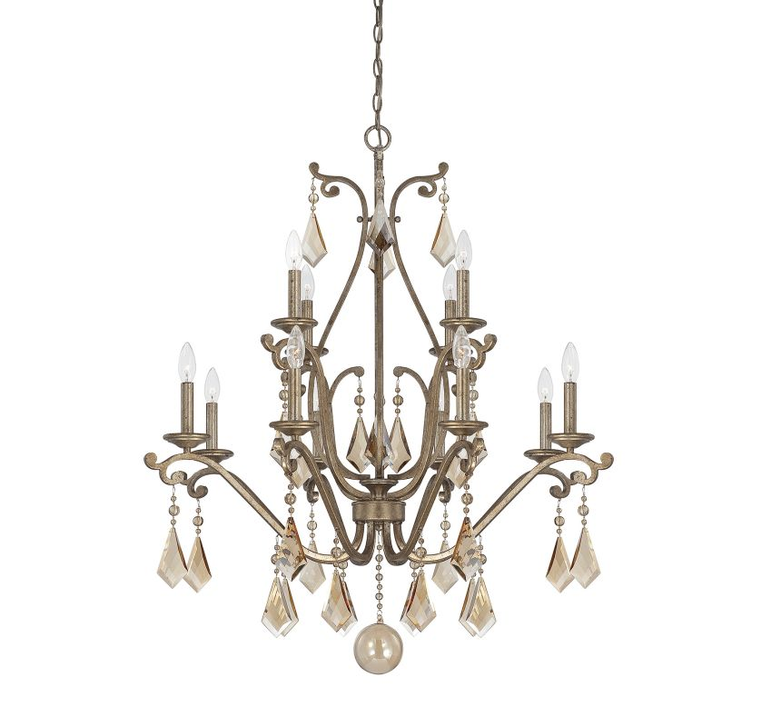 "Savoy House 1-8101-12 Rothchild 12 Light 35"" Wide 2 Tier Chandelier"