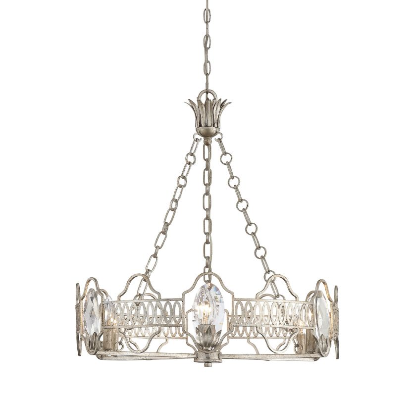 """Savoy House 1-8170-6 Hyde Park 6 Light 26"""" Wide 1 Tier Chandelier with"""