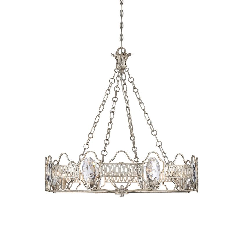 """Savoy House 1-8171-8 Hyde Park 8 Light 32"""" Wide 1 Tier Chandelier with"""