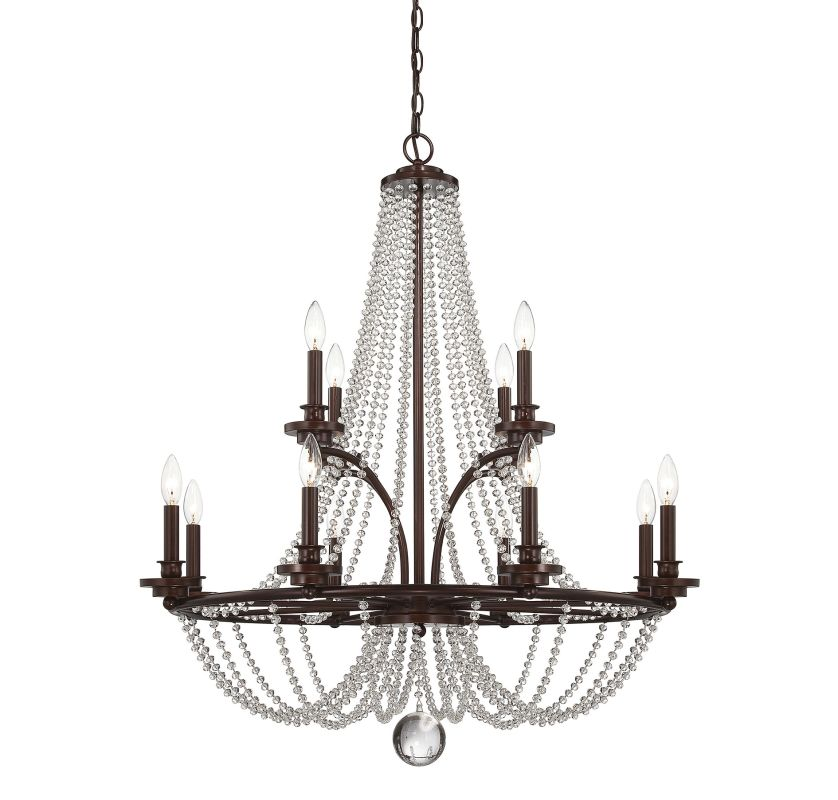"Savoy House 1-8352-12 Byanca 12 Light 34"" Wide 2 Tier Chandelier"