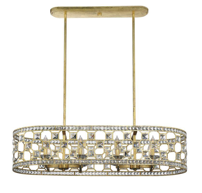 Savoy House 1-841-8 Clarion 8 Light Chandelier Gold Bullion Indoor