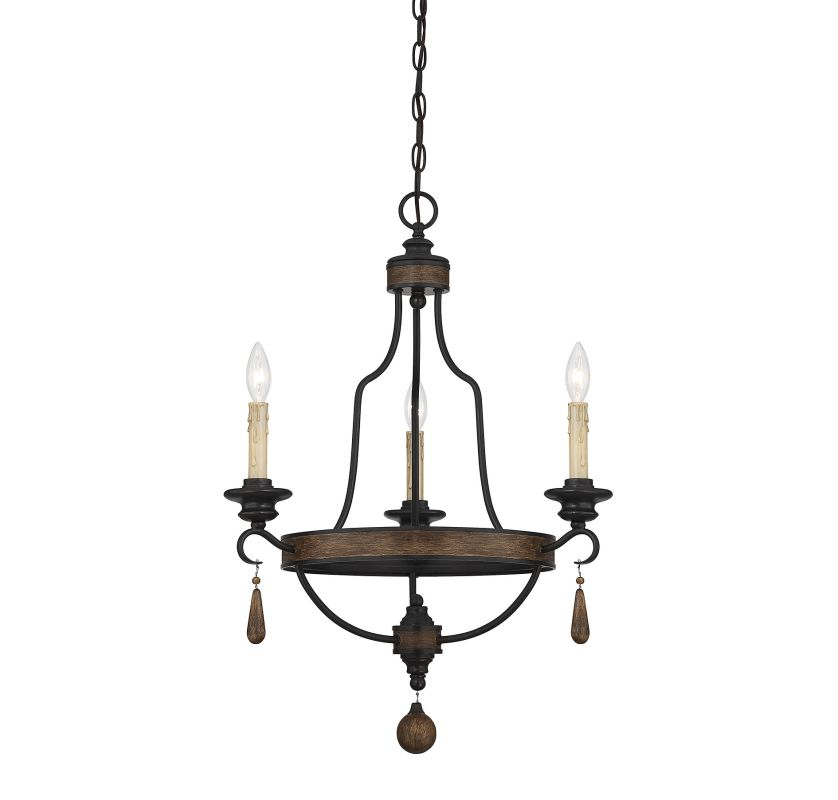 "Savoy House 1-8900-3 Kelsey 3 Light 21"" Wide 1 Tier Chandelier Durango"