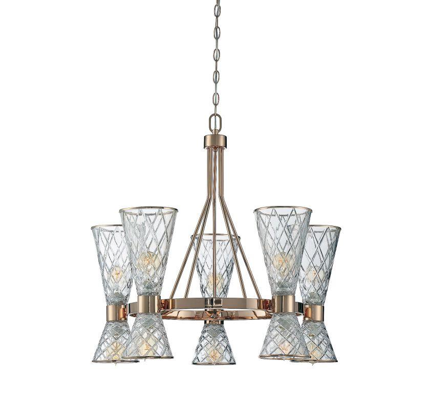 Savoy House 1-950-10 Courtland 10 Light Chandelier Rose Gold Indoor