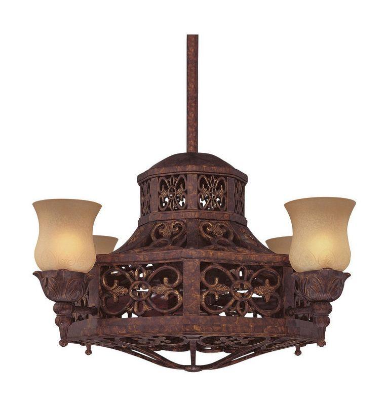 "Savoy House 14-280-FD Fire Island 14"" Span 4 Blade Indoor Ceiling Fan"