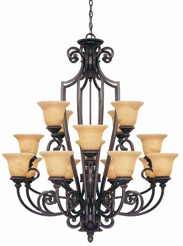 "Savoy House 1P-50205-16 Knight 16 Light 40"" Wide 3 Tier Chandelier"
