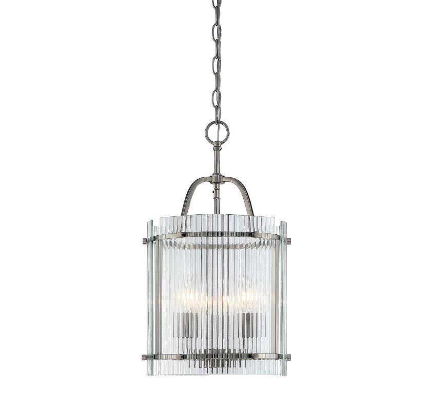 Savoy House 3-3085-3 Afton 3 Light Pendant Satin Nickel Indoor