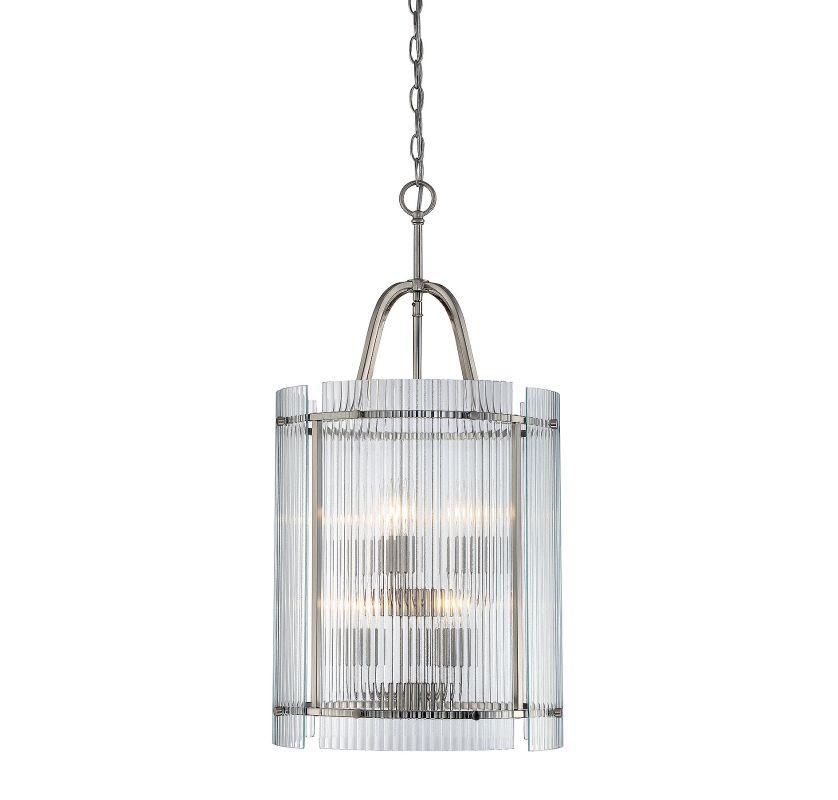 Savoy House 3-3087-6 Afton 6 Light Pendant Satin Nickel Indoor