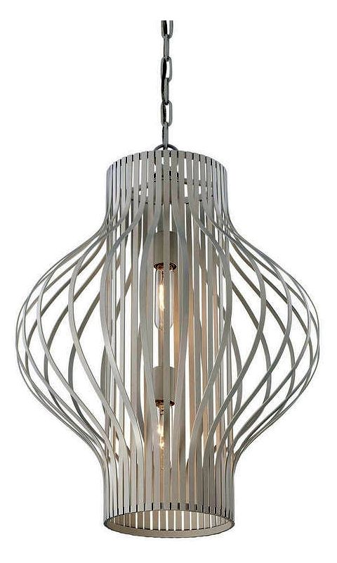 "Savoy House 3-312-2 Capra 2 Light 19.75"" Wide Pendant White Indoor"