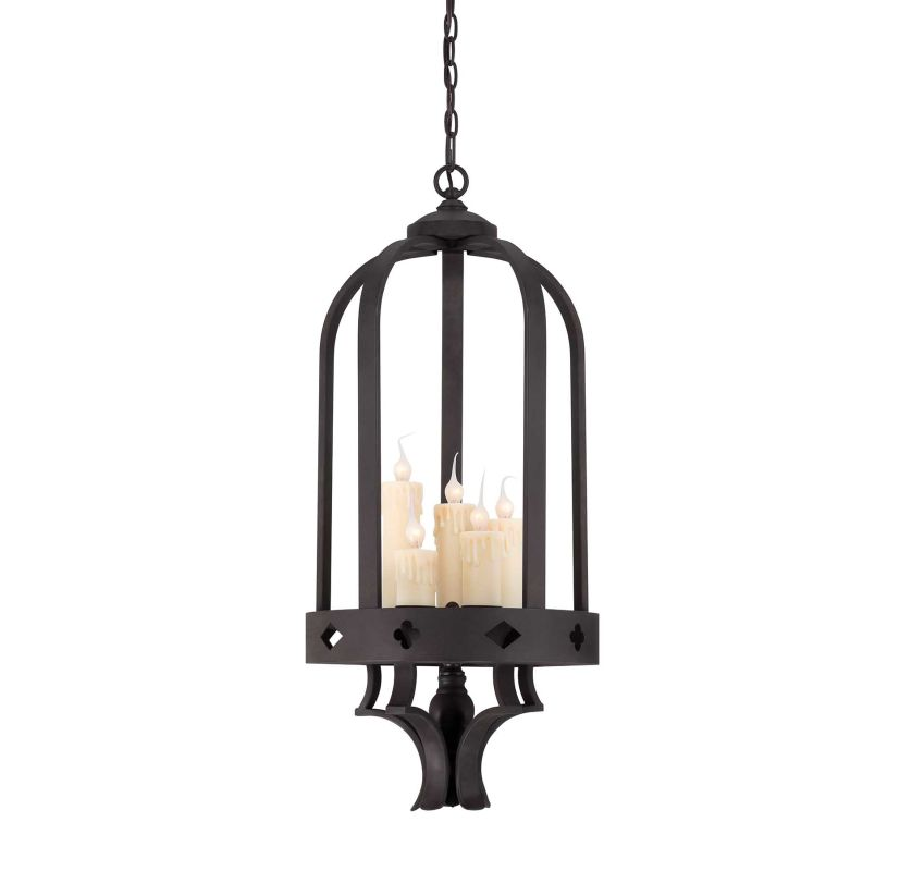 Savoy House 3-4401-5 Torre Five Light Foyer Pendant Forged Black