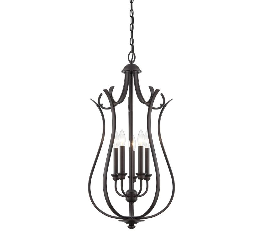 Savoy House 3-4503-5 Foyer 5 Light Foyer Pendant English Bronze Indoor
